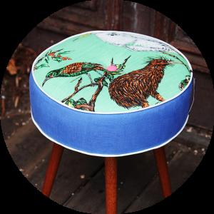Upholstered Adelaide footstool