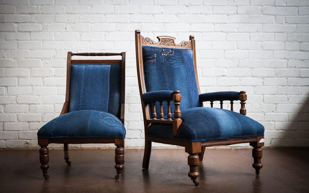 Vintage Denim Chairs