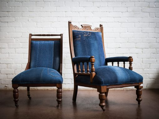 Vintage Denim Chairs