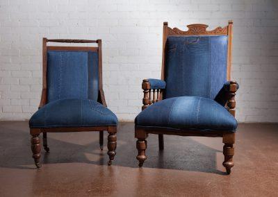 vintage denim chair 9