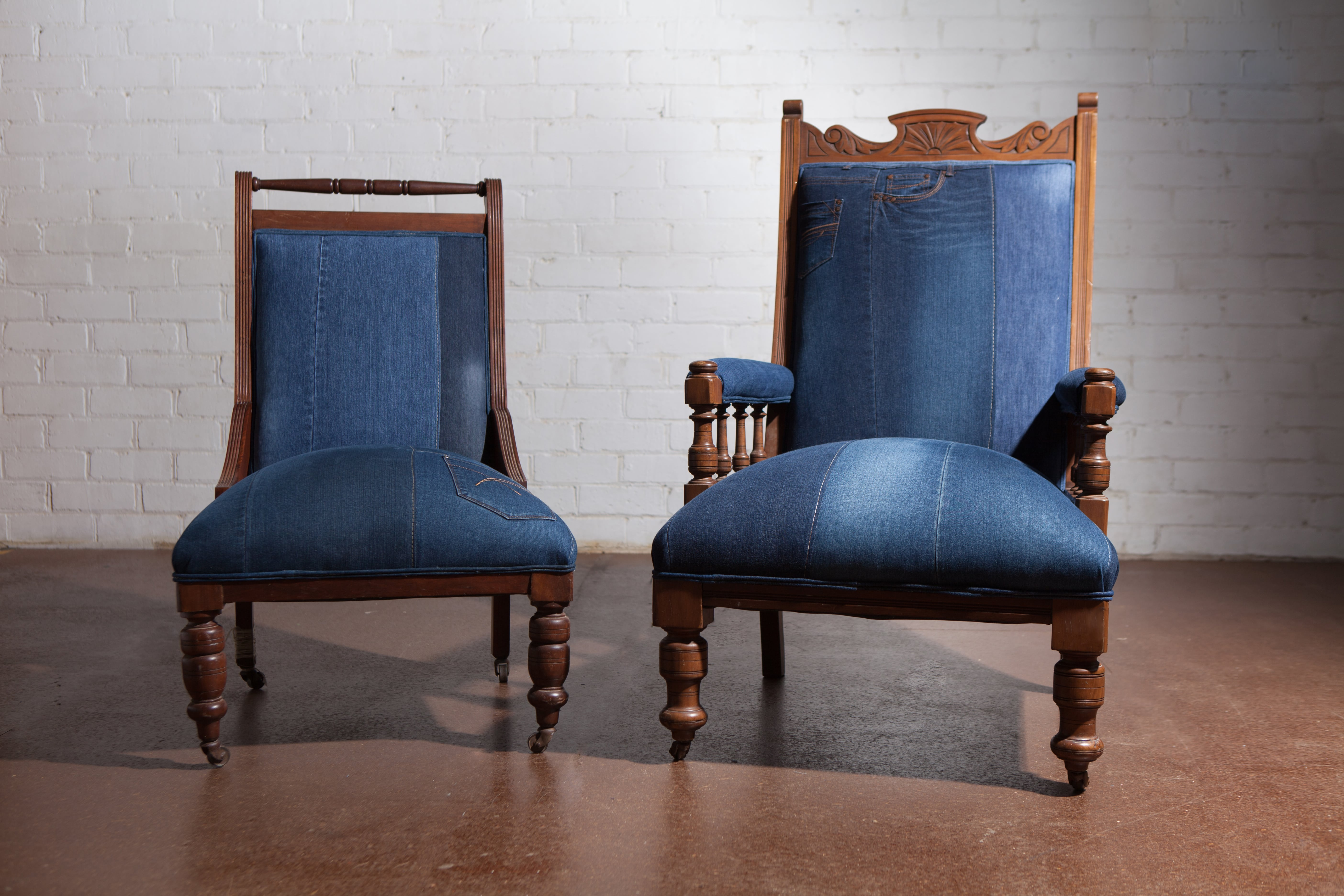 Vintage Denim Chair 9