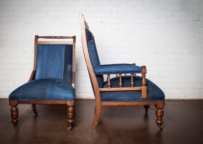 Vintage denim chair 8