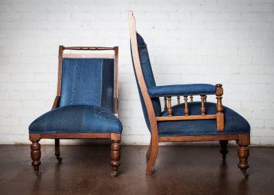 Vintage denim chair 7