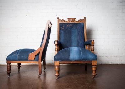Vintage denim chair 6