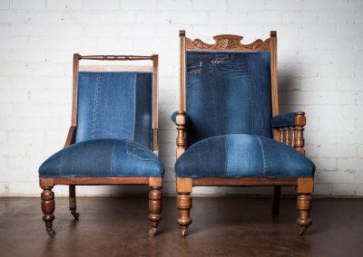 Vintage denim chair 5