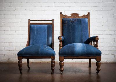 vintage Denim Chair 4